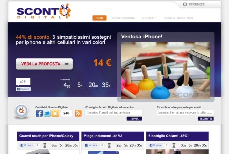 screenshot scontodigitale